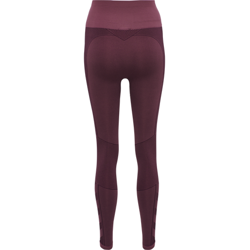 hmlZONA HIGH WAIST SEAMLESS TIGHTS, MAROON, packshot