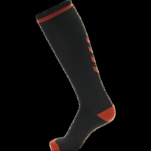 ELITE INDOOR SOCK HIGH, BLACK/RED, packshot