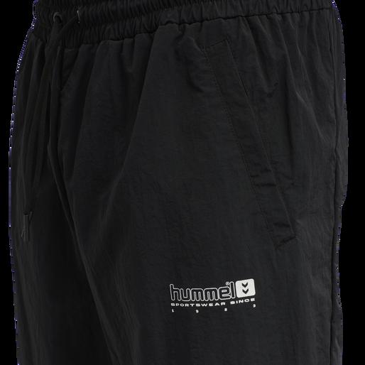 hmlLGC MUSA WOV REGULAR PANTS, BLACK, packshot