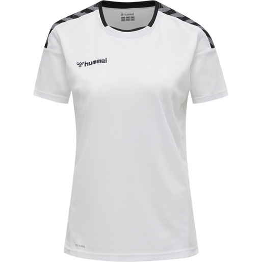 hmlAUTHENTIC POLY JERSEY WOMAN S/S, WHITE, packshot