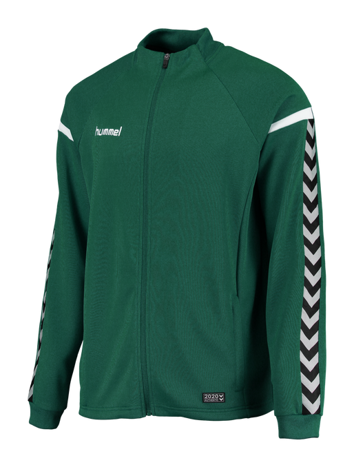 AUTH. CHARGE POLY ZIP JACKET, EVERGREEN, packshot