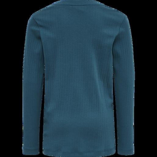 hmlNANETTE T-SHIRT L/S, BLUE CORAL, packshot