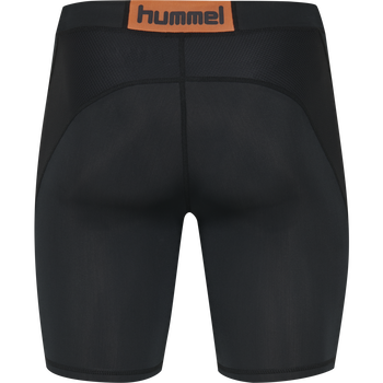 HUMMEL FIRST COMPRESSION SHORT TIGHTS, BLACK, packshot