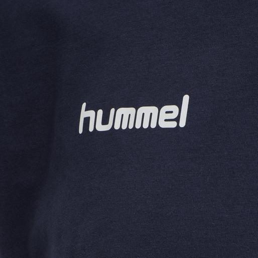 HUMMEL GO COTTON T-SHIRT S/S, MARINE, packshot