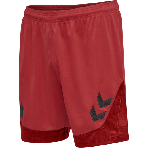 hmlLEAD POLY SHORTS, TRUE RED, packshot