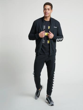 hmlISAM ZIP JACKET, BLACK, model
