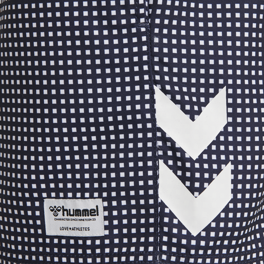 hmlHUDSON BOARD SHORTS, PEACOAT/WHITE, packshot
