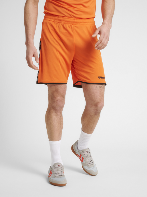 hmlAUTHENTIC POLY SHORTS, TANGERINE, model