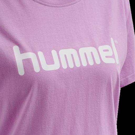 HUMMEL GO COTTON LOGO T-SHIRT WOMAN S/S, ORCHID, packshot