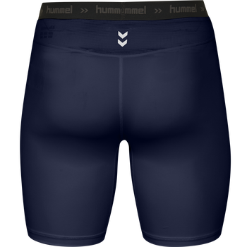 HUMMEL FIRST PERFORMANCE TIGHT SHORTS, MARINE, packshot