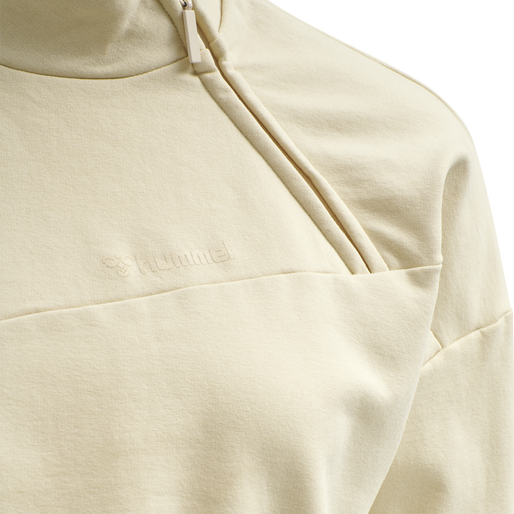 hmlFLEW SHORT SWEATSHIRT, BONE WHITE, packshot