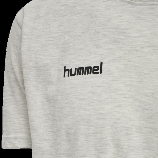 HUMMEL GO COTTON T-SHIRT S/S, EGRET MELANGE, packshot