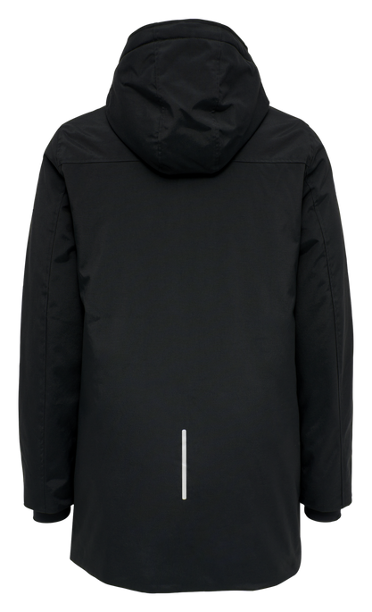 hmlEZRA COAT, BLACK, packshot