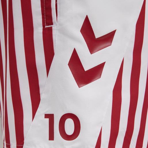 DBU FAN 2020 SWIM SHORTS, TANGO RED/WHITE, packshot