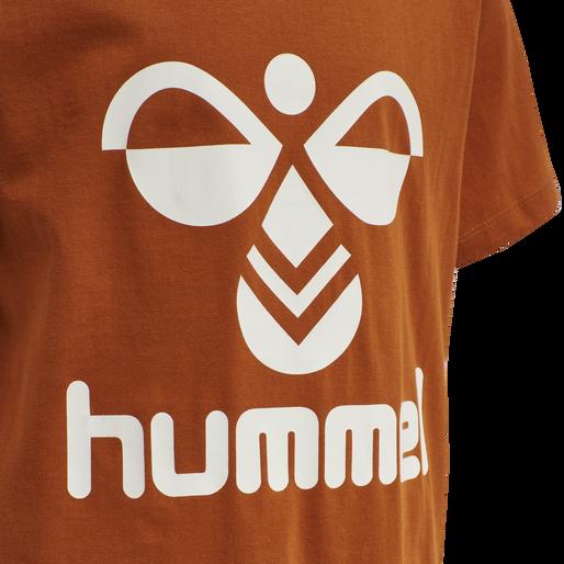 hmlTRES TEE SHIRT S/S, BOMBAY BROWN, packshot