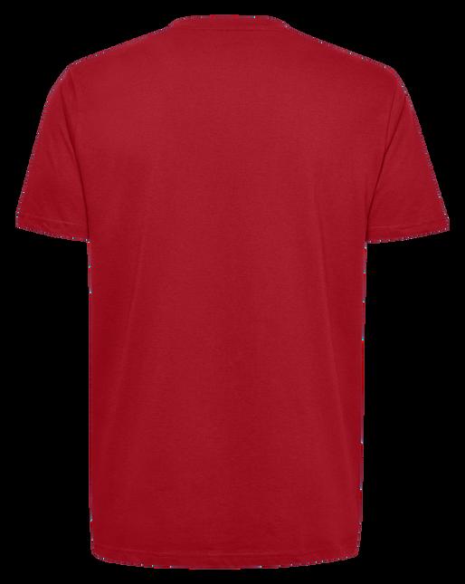 HUMMEL GO KIDS COTTON LOGO T-SHIRT S/S, TRUE RED, packshot