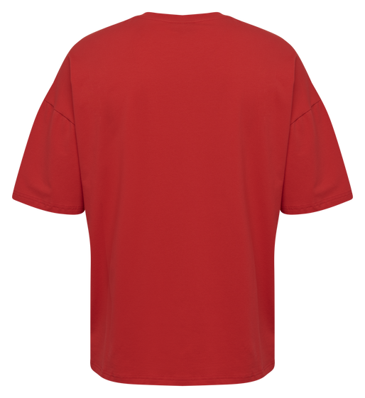 hmlINSIDE REEF LOOSE T-SHIRT S/S, TRUE RED, packshot