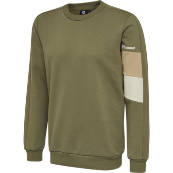 hmlAIDAN SWEATSHIRT, BURNT OLIVE , packshot