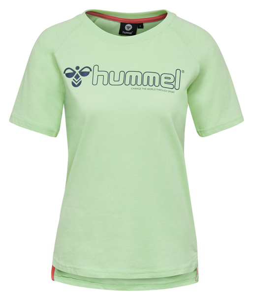 hmlZENIA T-SHIRT S/S, ICE GREEN, packshot