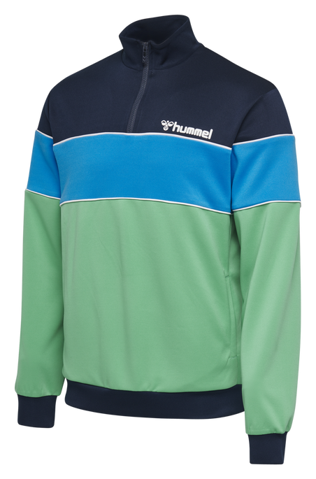 hmlLIAM HALF ZIP SWEATSHIRT, MARINE GREEN, packshot