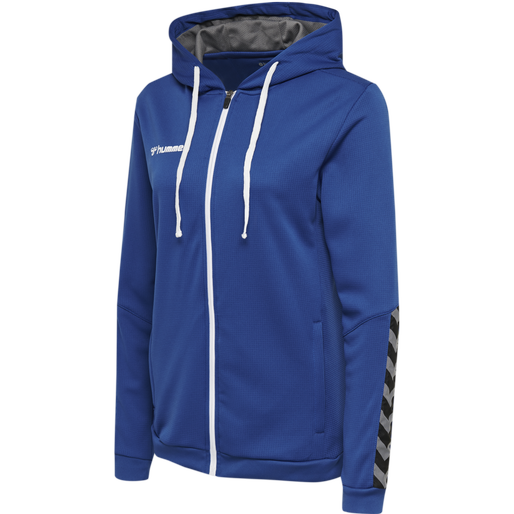 hmlAUTHENTIC POLY ZIP HOODIE WOMAN, TRUE BLUE, packshot