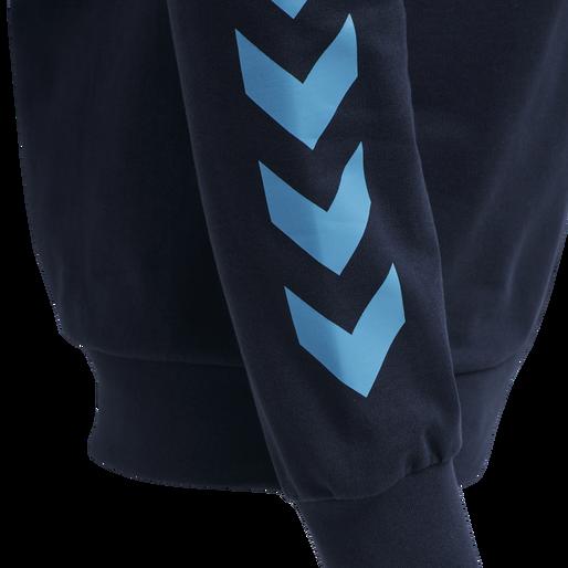 hmlACTION COTTON HOODIE, BLACK IRIS/ATOMIC BLUE, packshot