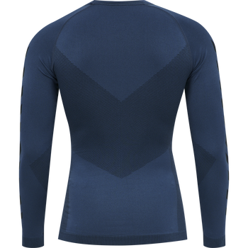 HUMMEL FIRST SEAMLESS JERSEY L/S , DARK DENIM, packshot