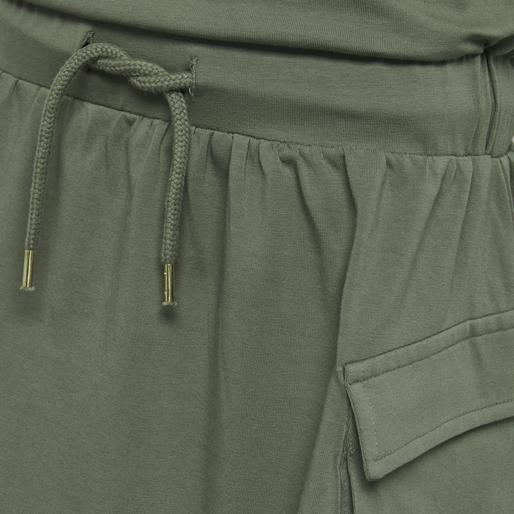 hmlARLINDA DRESS S/S, DEEP LICHEN GREEN, packshot