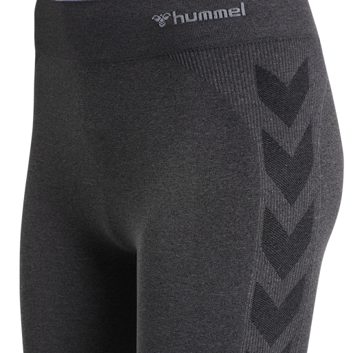 hmlCI SEAMLESS 3/4 TIGHTS, BLACK MELANGE, packshot
