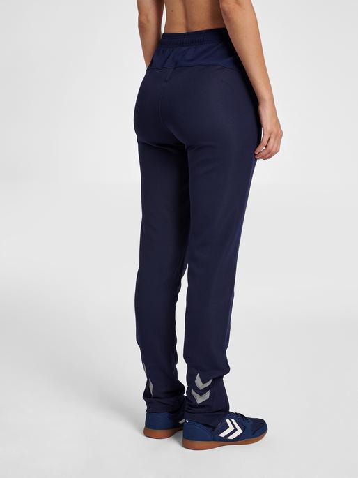 hmlLEAD WOMEN POLY PANTS, MARINE, model