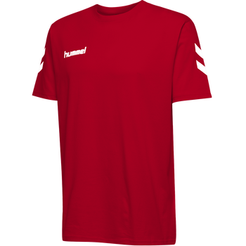 HUMMEL GO KIDS COTTON T-SHIRT S/S, TRUE RED, packshot