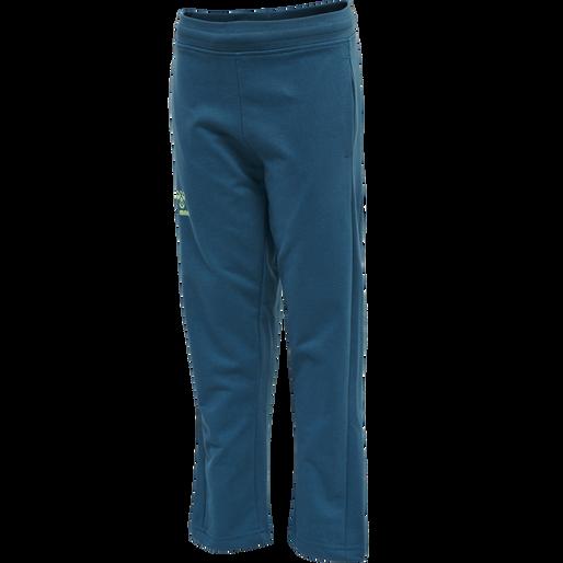 hmlACTION COTTON PANTS KIDS, BLUE CORAL/GREEN ASH, packshot