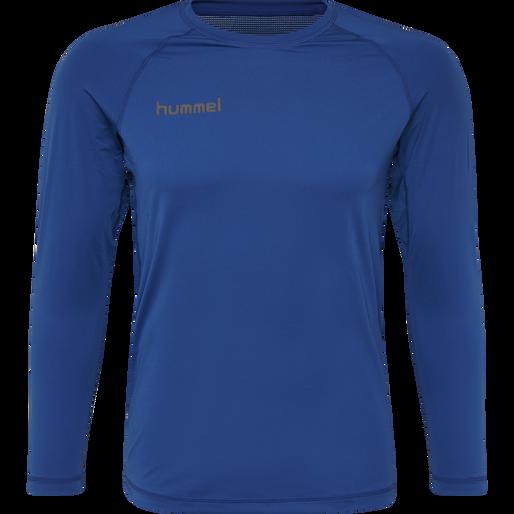 HUMMEL FIRST PERFORMANCE JERSEY L/S, TRUE BLUE, packshot