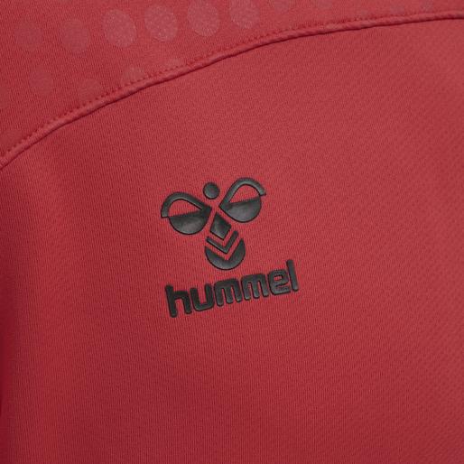 hmlLEAD POLY HOODIE, TRUE RED, packshot