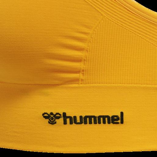 hmlTIFFY SEAMLESS SPORTS TOP, SAFFRON, packshot