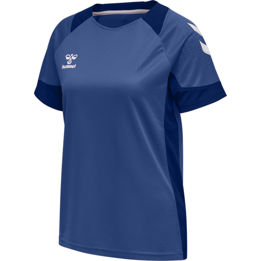 hmlLEAD S/S POLY JERSEY WOMEN, TRUE BLUE, packshot