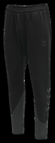 hmlACTION TRAINING PANTS, BLACK/ASPHALT, packshot