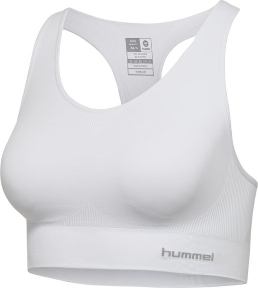 SUE SEAMLESS SPORTS TOP, WHITE, packshot