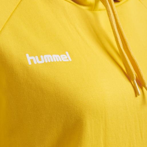 HUMMEL GO COTTON HOODIE WOMAN, SPORTS YELLOW, packshot