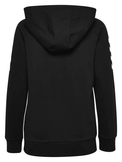 HUMMEL GO COTTON HOODIE WOMAN, BLACK, packshot