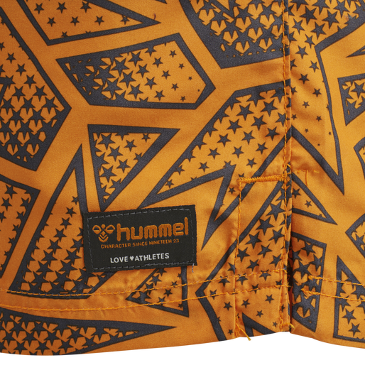 hmlEVAN BOARD SHORTS, TANGELO, packshot