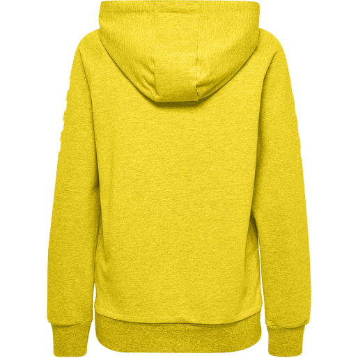 HUMMEL GO COTTON HOODIE WOMAN, SPORTS YELLOW, packshot