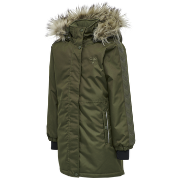 hmlLEAF COAT, OLIVE NIGHT, packshot