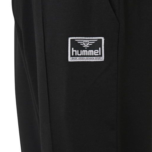 hmlMIDDLES CROPPED PANTS, BLACK, packshot