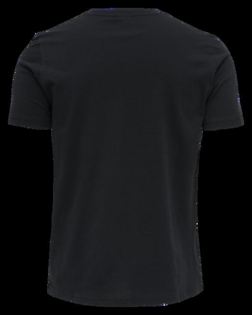 hmlACTON T-SHIRT, BLACK, packshot