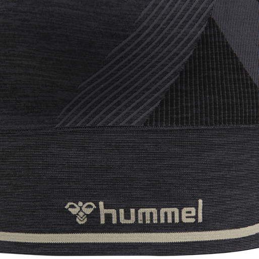 hmlSKY SEAMLESS SPORTS TOP, MAGNET/BLACK, packshot