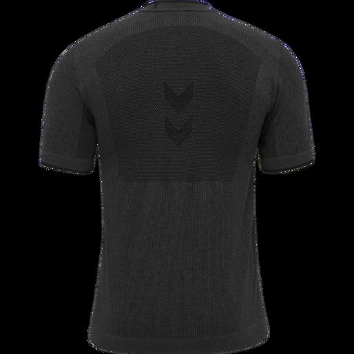 hmlJOE SEAMLESS T-SHIRT, BLACK MELANGE, packshot