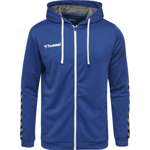 hmlAUTHENTIC KIDS  POLY ZIP HOODIE, TRUE BLUE, packshot
