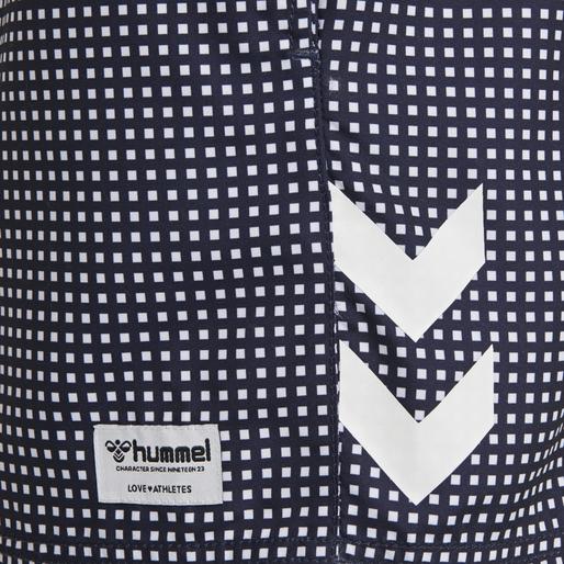 hmlHUDSON BOARD SHORTS, PEACOAT/WHITE, packshot