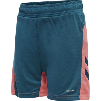 hmlACTION SHORTS KIDS, BLUE CORAL/TEA ROSE, packshot